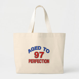 97 Aged To Perfection Large Tote Bag