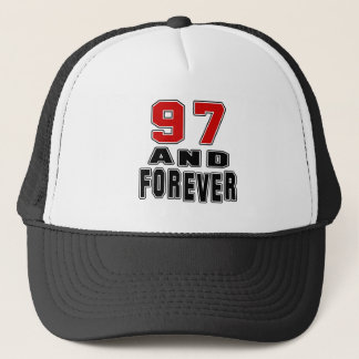 97 birthday designs trucker hat