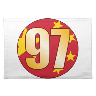 97 CHINA Gold Placemat