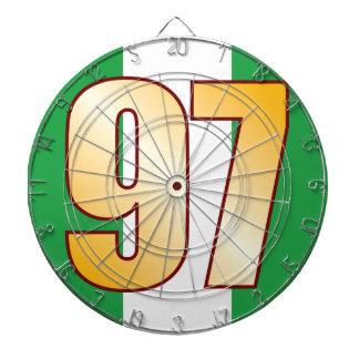 97 NIGERIA Gold Dartboard