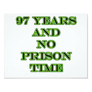 97 No prison time 11 Cm X 14 Cm Invitation Card