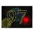 97th  Birthday card with fireworks