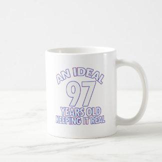 97th birthday designs basic white mug