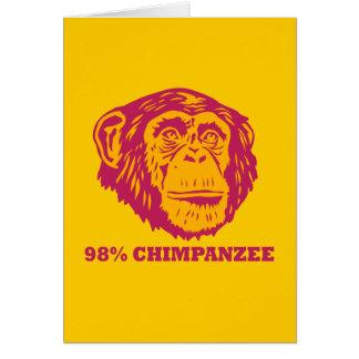 98% Chimpanzee Card