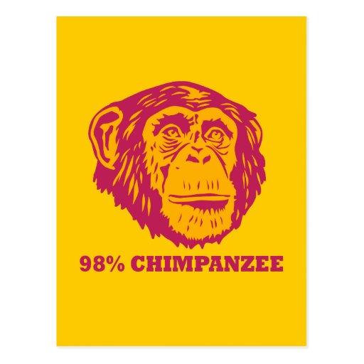 98% Chimpanzee Post Card
