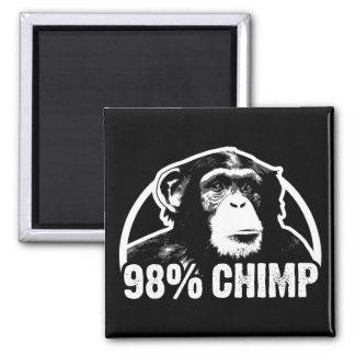 98 Percent Chimp Refrigerator Magnets