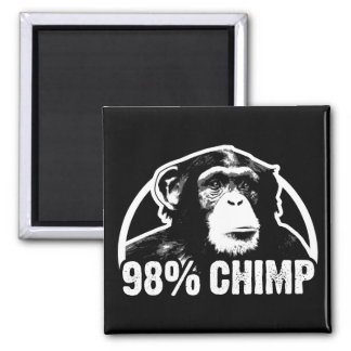 98 Percent Chimp Square Magnet