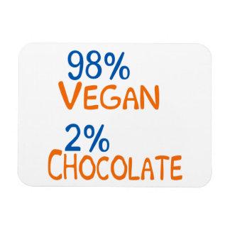 98 Percent Vegan Magnet