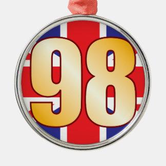 98 UK Gold Christmas Ornament