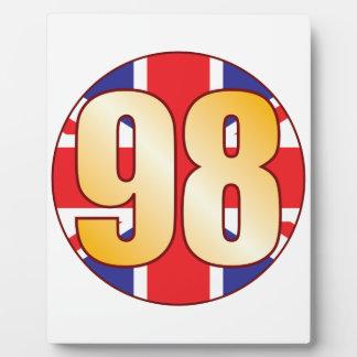 98 UK Gold Plaque