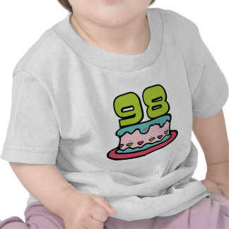 98 Year Old Birthday Cake Tee Shirts