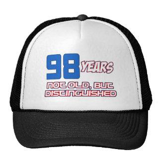 98 YEAR OLD BIRTHDAY DESIGNS CAP