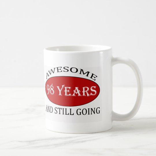 98 years old birthday designs coffee mug