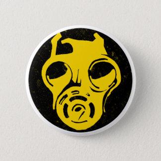 999 Gas Mask Design 6 Cm Round Badge