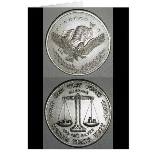.999 One Troy Ounce Silver Front and Back