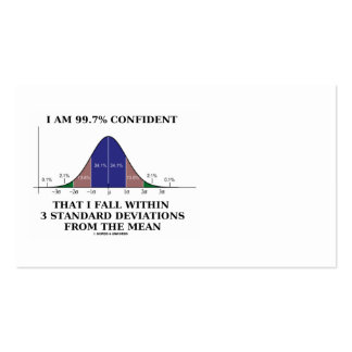 99.7% Confident Within 3 Standard Deviations Pack Of Standard Business Cards