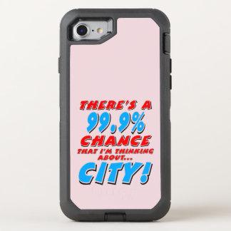 99.9% CITY (blk) OtterBox Defender iPhone 8/7 Case