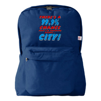 99.9% CITY (wht) Backpack