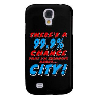 99.9% CITY (wht) Galaxy S4 Case