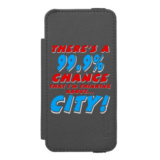 99.9% CITY (wht) Incipio Watson™ iPhone 5 Wallet Case