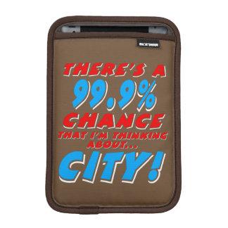 99.9% CITY (wht) iPad Mini Sleeve