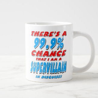 99.9% I am a SUPER VILLAIN (blk) Large Coffee Mug