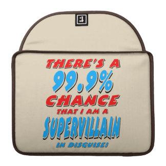 99.9% I am a SUPER VILLAIN (blk) Sleeve For MacBook Pro