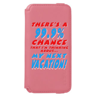 99.9% NEXT VACATION (wht) Incipio Watson™ iPhone 6 Wallet Case