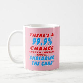 99.9% SHREDDING THE GNAR (wht) Coffee Mug