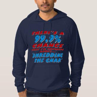 99.9% SHREDDING THE GNAR (wht) Hoodie