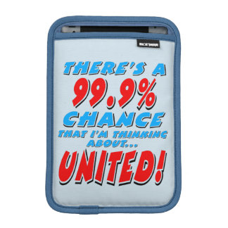 99.9% UNITED (blk) Sleeve For iPad Mini