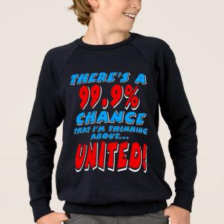 99.9% UNITED (wht) Sweatshirt