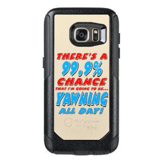 99.9% YAWNING ALL DAY (blk) OtterBox Samsung Galaxy S7 Case