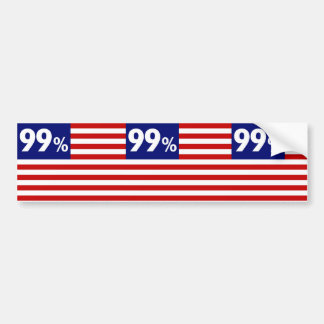99 % American Flag - Occupy Wall Street Bumper Stickers