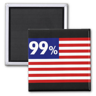 99 % American Flag - Occupy Wall Street Refrigerator Magnets