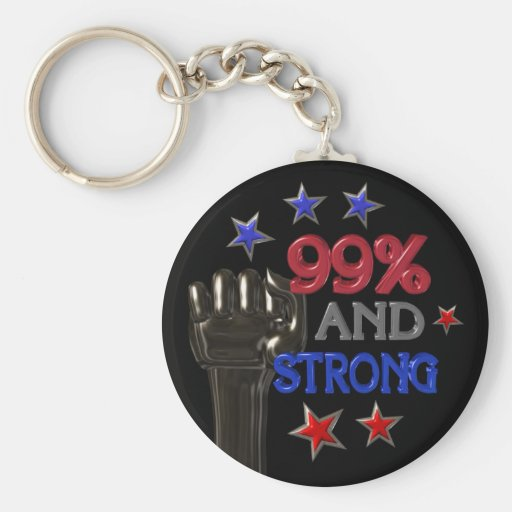 99% and Strong protest on 30 items Keychain