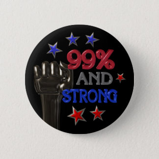 99% and Strong protest pinback button