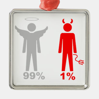 99% Angel 1% Devil Man Christmas Ornament