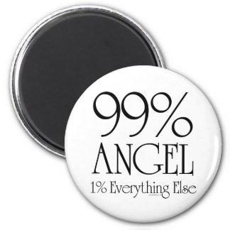 99% Angel 6 Cm Round Magnet