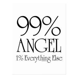 99% Angel Postcard