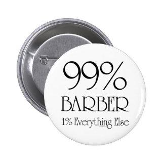 99% Barber 6 Cm Round Badge