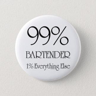 99% Bartender 6 Cm Round Badge