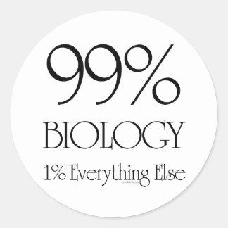 99% Biology Round Sticker