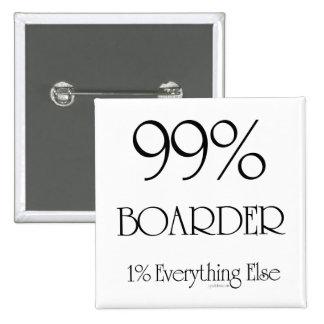 99% Boarder 15 Cm Square Badge