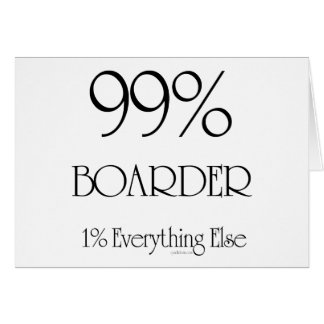 99% Boarder Greeting Card