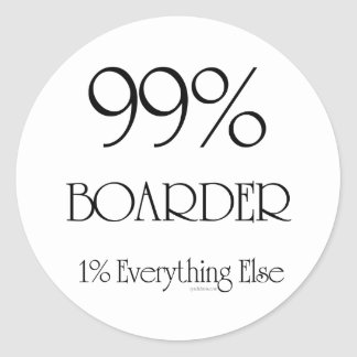 99% Boarder Round Sticker