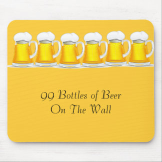 99 Bottles of beer on the wall Mousepad