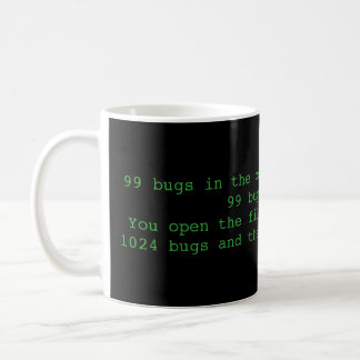 99 bugs in the code, funny programmer mug