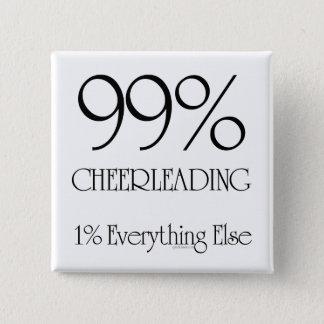 99% Cheerleading 15 Cm Square Badge