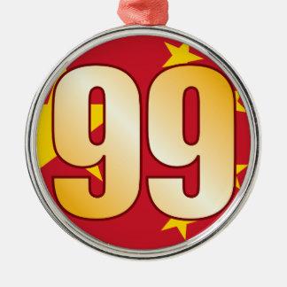 99 CHINA Gold Christmas Ornament